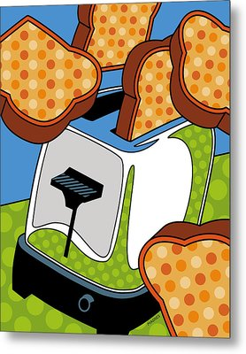 Flying Toast Metal Print by Ron Magnes