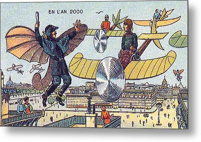 Flying Traffic Control, 1900s French Metal Print by Science Source