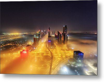 Fog Invasion Metal Print by Mohammad Rustam