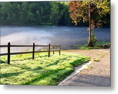 Fog On The River Metal Print by Betty LaRue