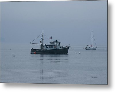 Foggy Start To The Day Penobscot Bay Maine Metal Print by Brian M Lumley