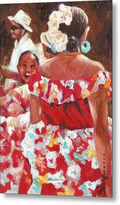 Folklorica I Metal Print by Monica Linville