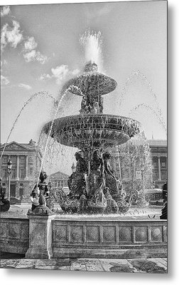 Fontaine Des Fleuves Metal Print by Diana Haronis