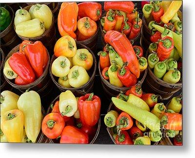 Food - Peppers Metal Print by Paul Ward