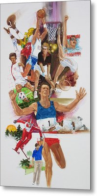 For Love Of The Games Metal Print by Chuck Hamrick