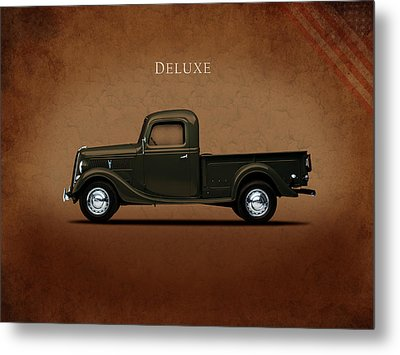 Ford Deluxe Pickup 1937 Metal Print by Mark Rogan