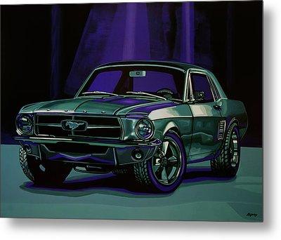 Ford Mustang 1967 Painting Metal Print by Paul Meijering