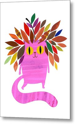 Forest Cat Metal Print by Anne Vasko