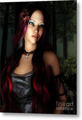 Forest Princess Metal Print by Jutta Maria Pusl