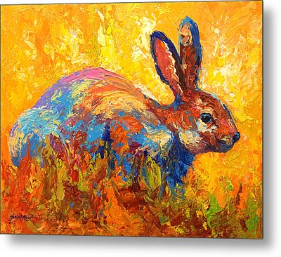 Forest Rabbit II Metal Print by Marion Rose