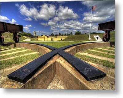 Fort Moultrie Cannon Tracks Metal Print by Dustin K Ryan