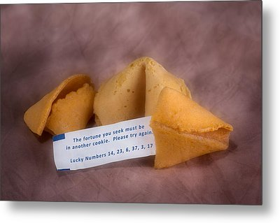 Fortune Cookie Fail Metal Print by Tom Mc Nemar