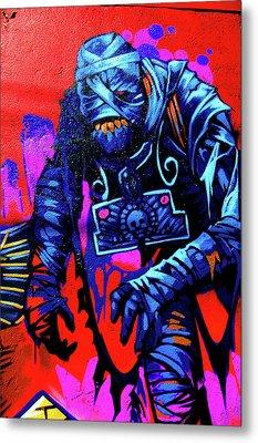 Found Graffiti 25 Mummy Metal Print by Jera Sky