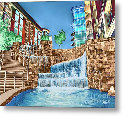 Fountains Metal Print by Rachelle Petersen