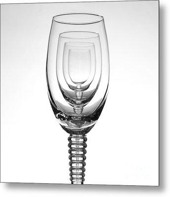 Four Glasses Metal Print by Andreas Berheide