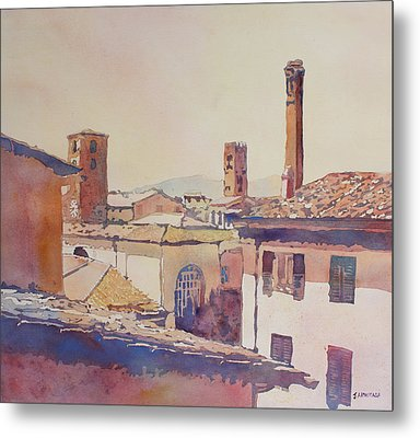 Four Luccan Towers Metal Print by Jenny Armitage