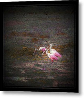 Four Spoons On The Marsh Metal Print by Marvin Spates