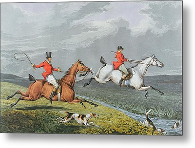 Fox Hunting - Full Cry Metal Print by Charles Bentley
