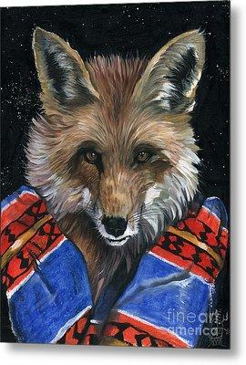 Fox Medicine Metal Print by J W Baker