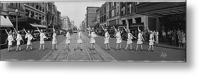 Fox Roller Skating Girls Washington Dc 1929 Metal Print by Panoramic Images