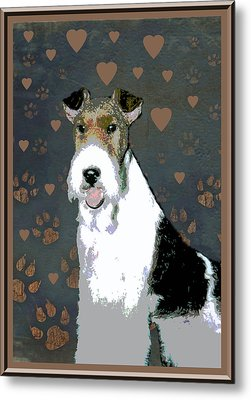 Fox Terrier Wire Metal Print by One Rude Dawg Orcutt