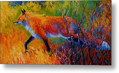 Foxy - Red Fox Metal Print by Marion Rose