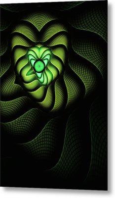 Fractal Cobra Metal Print by John Edwards