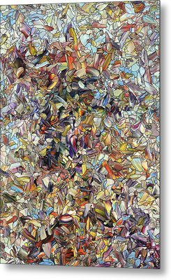 Fragmented Horse Metal Print by James W Johnson