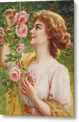 Fragrant Roses Metal Print by Emile Vernon