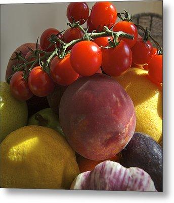 France, Paris Fruits And Vegetables Metal Print by Keenpress