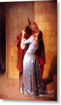 Francesco Hayez Il Bacio Or The Kiss Metal Print by Pg Reproductions
