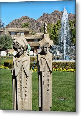 Frank Lloyd Wright Maidens At The Biltmore Metal Print by Diane Wood