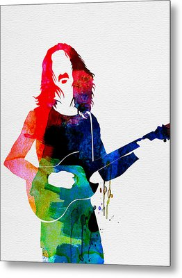 Frank Watercolor Metal Print by Naxart Studio