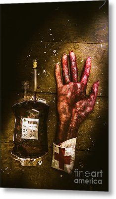 Frankenstein Transplant Experiment Metal Print by Jorgo Photography - Wall Art Gallery