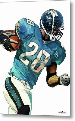 Fred Taylor Jacksonville Jaguars Metal Print by Michael Pattison
