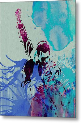 Freddie Mercury Metal Print by Naxart Studio