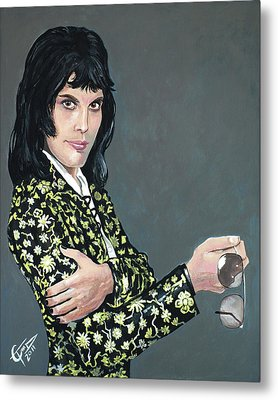 Freddie Mercury Metal Print by Tom Carlton