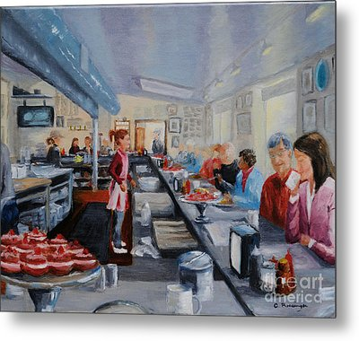 Fred's Breakfast Of New Hope Metal Print by Cindy Roesinger