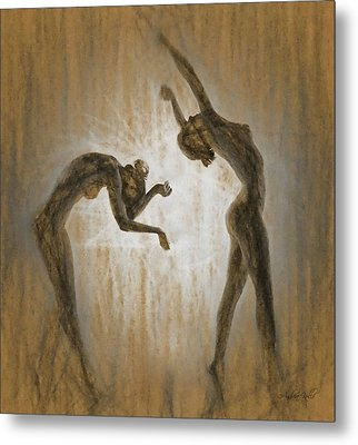 Freedom Nudes Dancing Metal Print by Andrea Kollo
