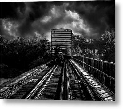 Freight Train Blues Metal Print by Bob Orsillo