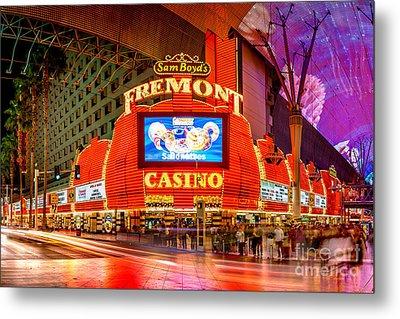 Fremont Casino Metal Print by Az Jackson
