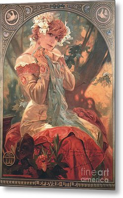 French Biscuit Ad 1904 Metal Print by Padre Art