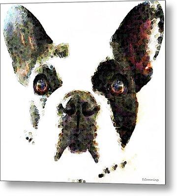 French Bulldog Art - High Contrast Metal Print by Sharon Cummings