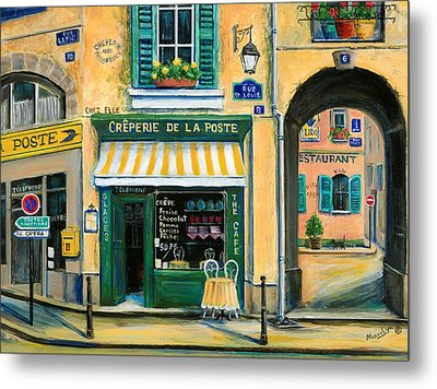French Creperie Metal Print by Marilyn Dunlap