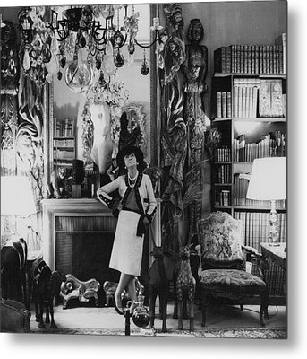 French Fashion Designer, Coco Chanel Metal Print by Conde Nast