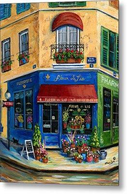 French Flower Shop Metal Print by Marilyn Dunlap