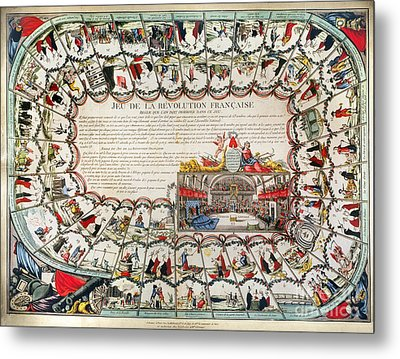French Game Board, 1791 Metal Print by Granger