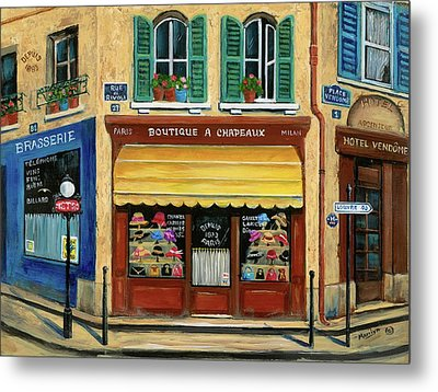French Hats And Purses Boutique Metal Print by Marilyn Dunlap