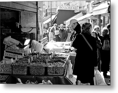 French Street Market Metal Print by Sebastian Musial