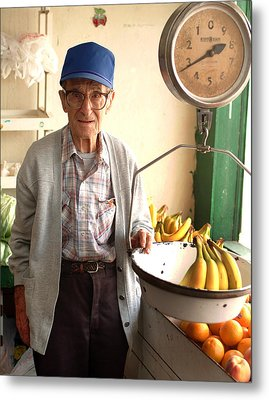 Fresh Bananas For Sale Metal Print by Don Wolf